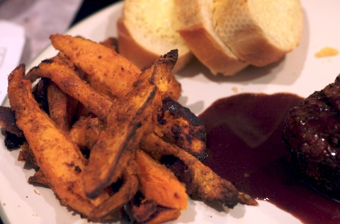 Finished sweet potato fries