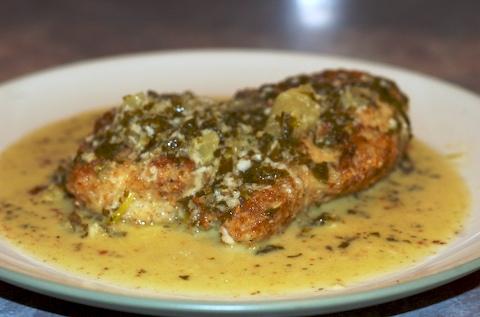 Mahi, plated and saucy