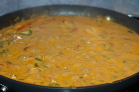 Simmering red curry
