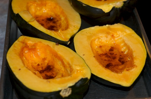 Fill each squash with honey and oil