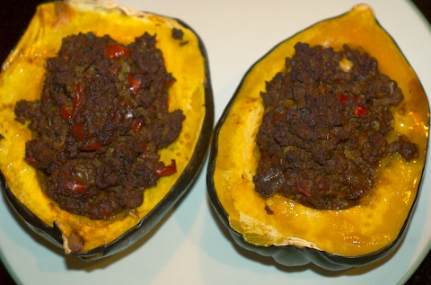 Completed stuffed squash