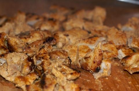 Cooked chicken tikka