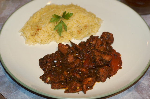 Stewed Creole Barbecue Chicken