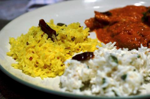 Lime rice and yogurt rice
