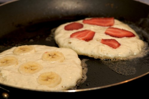Cook the pancakes