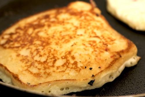 Flip the pancakes