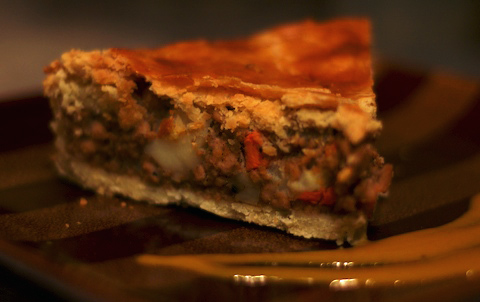 Slice of tourtiere