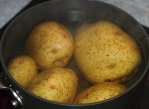 Boil the potatoes
