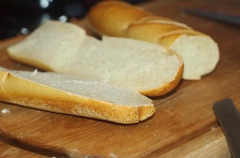 Chop up the sourdough bread