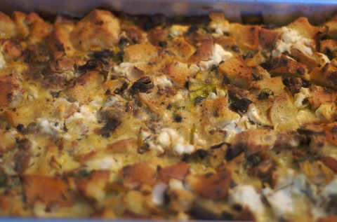 Stuffing, fresh out of the oven