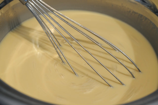 Mix the custard well