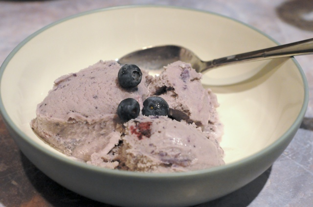 Blueberry Maple Ice Cream w/Brazil Nuts