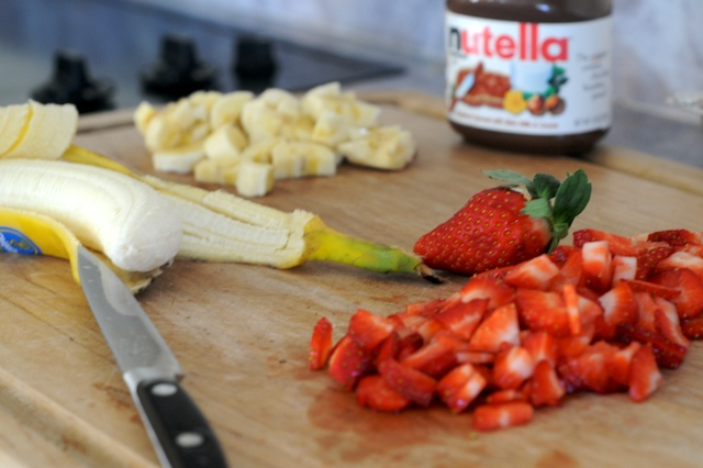 Nutella Crêpes w/Strawberry & Banana from Mike's Table
