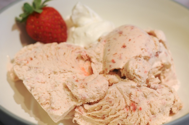 Balsamic Strawberry Ice Cream