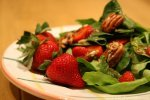 Deb's Spinach Salad With Stawberries and Brown Buttered Pecans