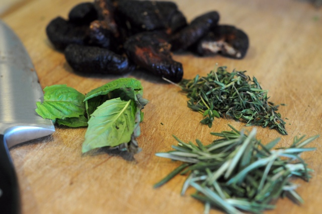 Herbs and dried figs