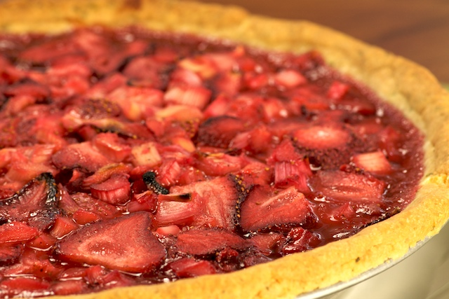 Strawberry Rhubarb Pie from Mike's Table