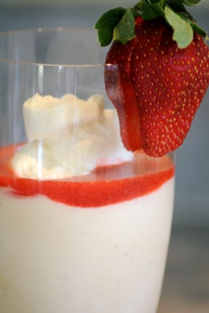 Strawberry White Chocolate Mousse