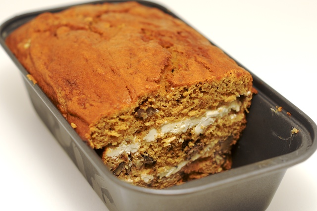 Cream Cheese Swirled Pumpkin Bread from Mike's Table