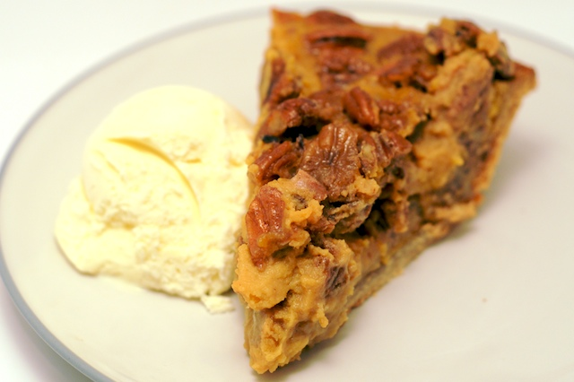 Sweet Potato Pecan Pie with Ginger Ice Cream from Mike's Table
