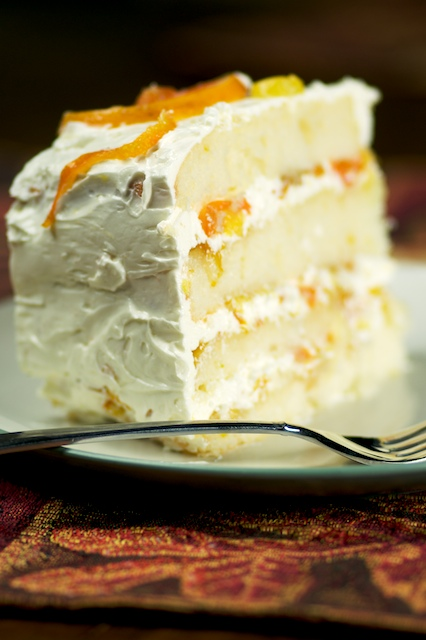 Slice of Orange Party Cake