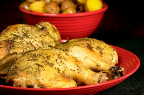 Spatchcocked Dijon and Anise Roast Chicken
