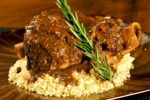 Blood Orange and Fig Braised Lamb Shanks