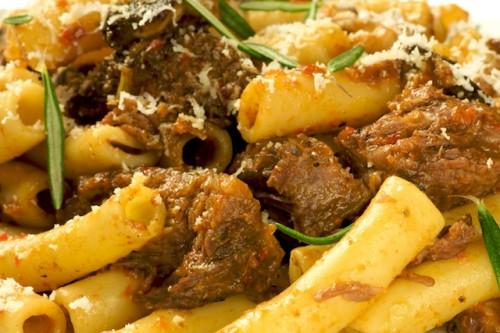 Beef Shortribs Marsala Pasta