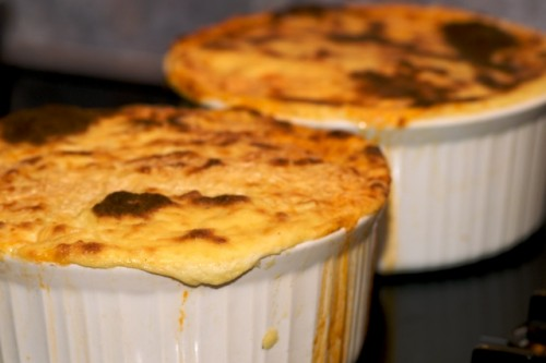 Pastitsio fresh out of the oven and looking tempting