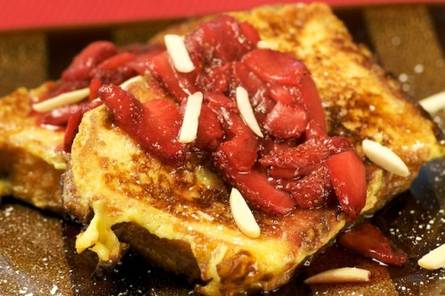 Brioche French Toast with Strawberry Compote