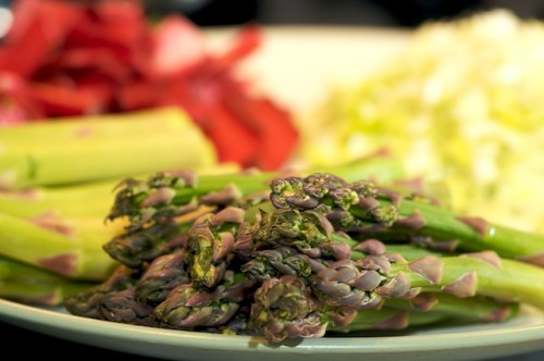 Asparagus and other vegetables