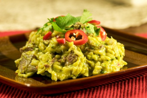 Avocado, Mango, and Beef Risotto