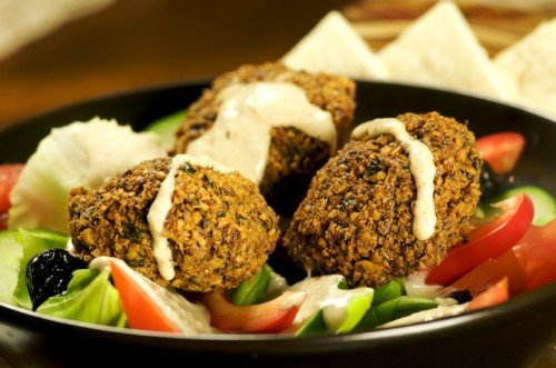 Falafel Salad with Zesty Tahini Sauce