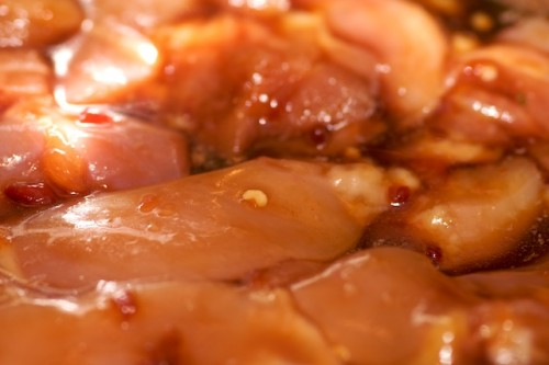 Marinate the chicken in teriyaki