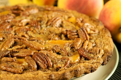Peach and Pecan Tart