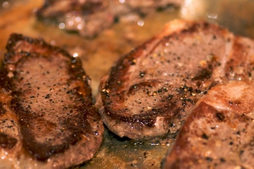 Brown the lamb steaks