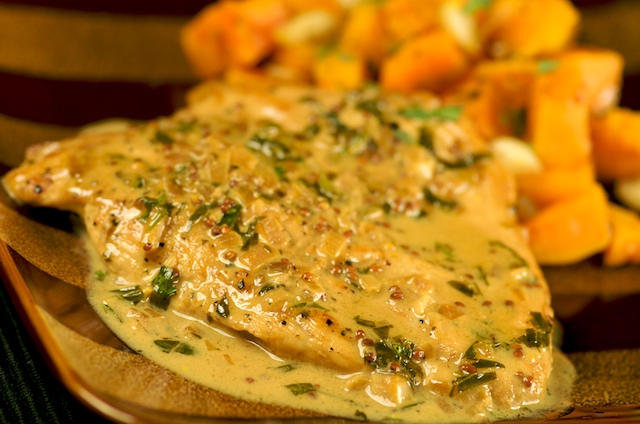Seared Chicken Breasts In A Mushroom, Tarragon And Mustard Pan Sauce ...