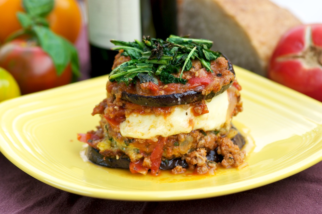 Eggplant Parmigiana…deconstructed from Mike's Table